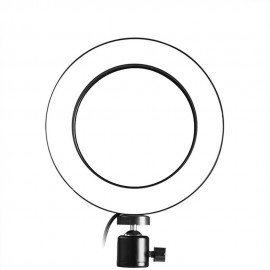 160mm USB Interface Dimmable LED Selfie Round Light Phone Photography Video Makeup Lamp